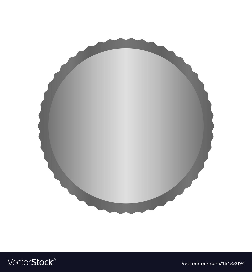 Modern metal silver circle metal badges labels