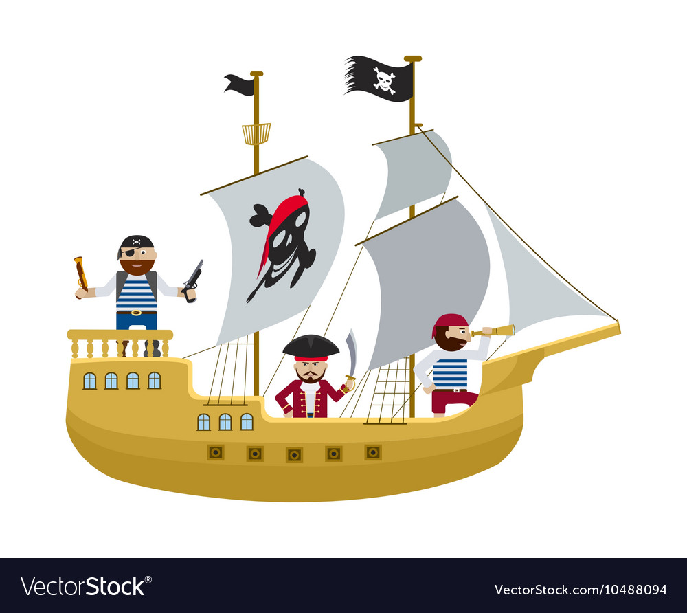 Pirate ship cartoon image