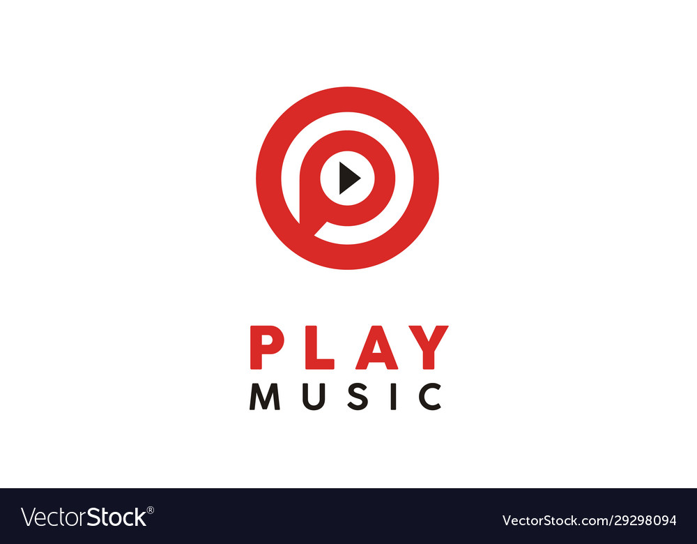 Play music video multimedia player icon app logo