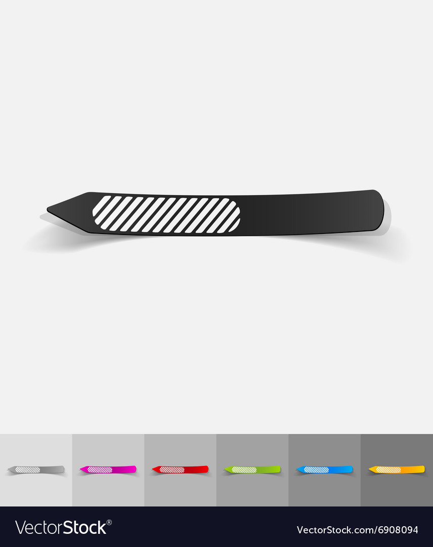 Realistic design element nail file Royalty Free Vector Image