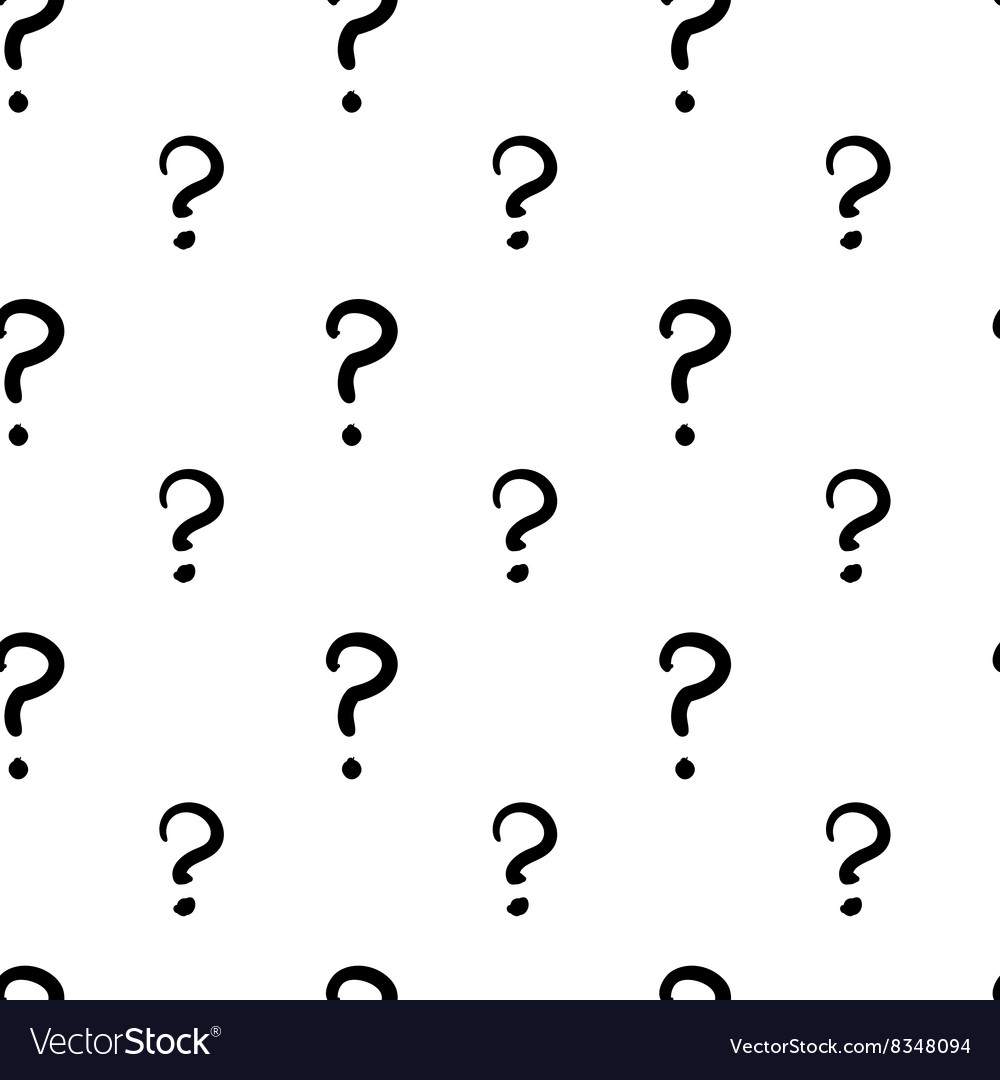 The question mark hand drawn seamless pattern