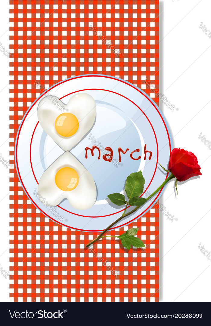 8 march template with number eight shaped vector image