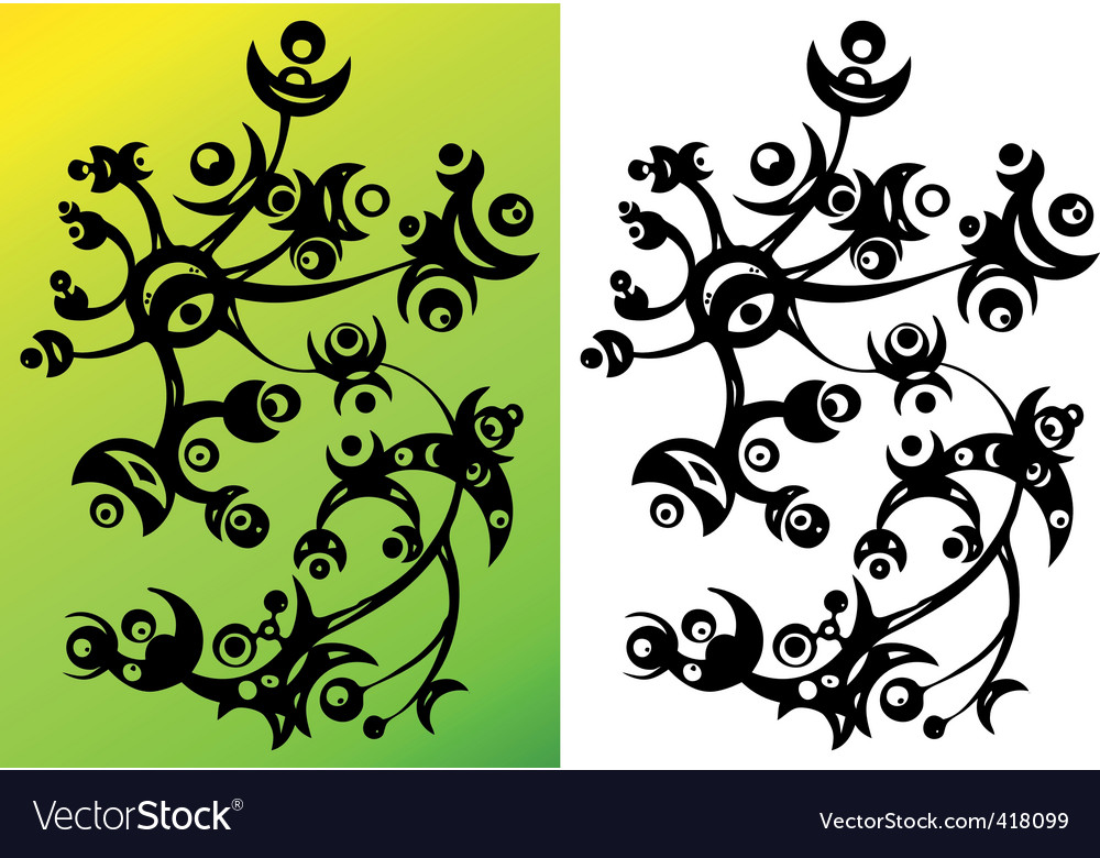 Abstract flower ornament vector image