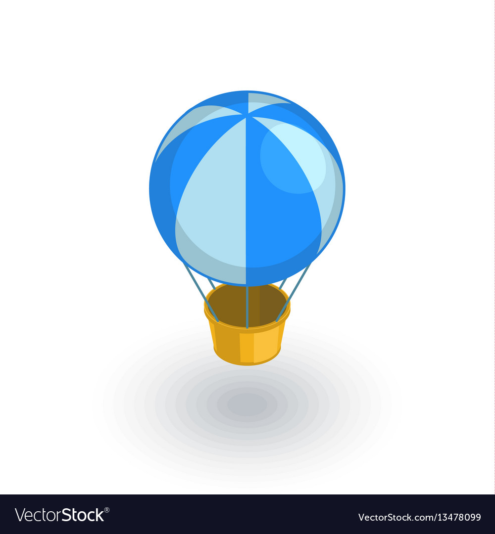 Air balloon isometric flat icon 3d vector image
