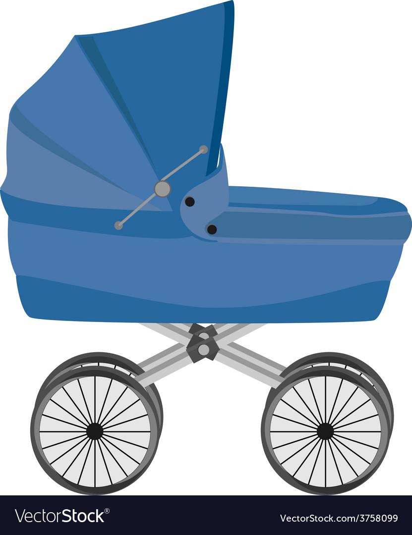 Blue baby pram