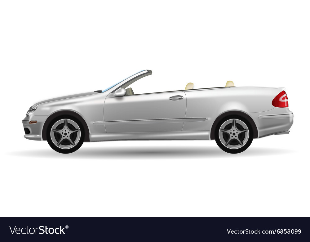 Classic convertible on white background original
