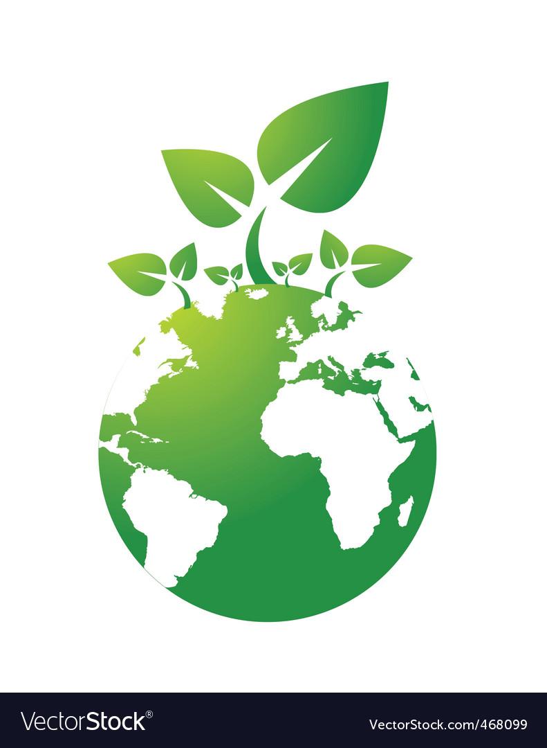 Green Earth Royalty Free Vector Image Vectorstock
