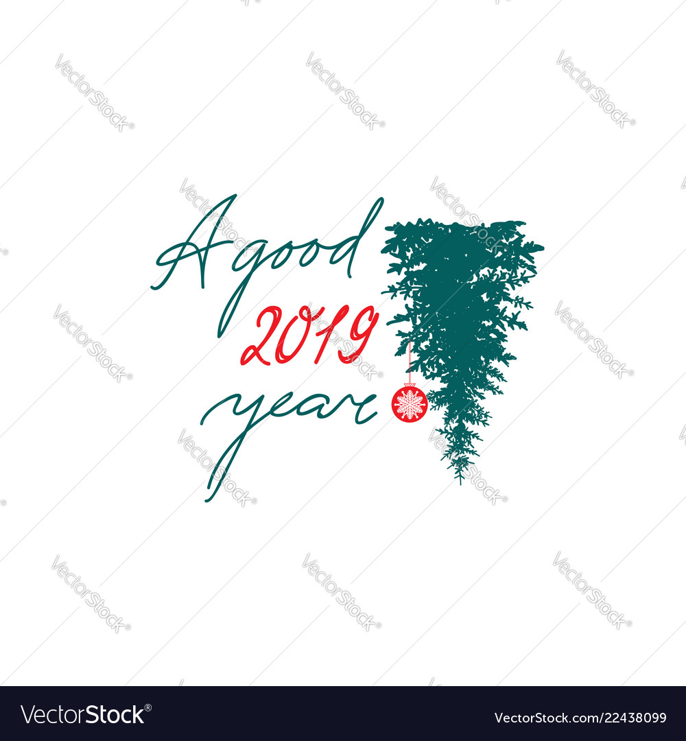 Happy new year 2019 banner winter holiday
