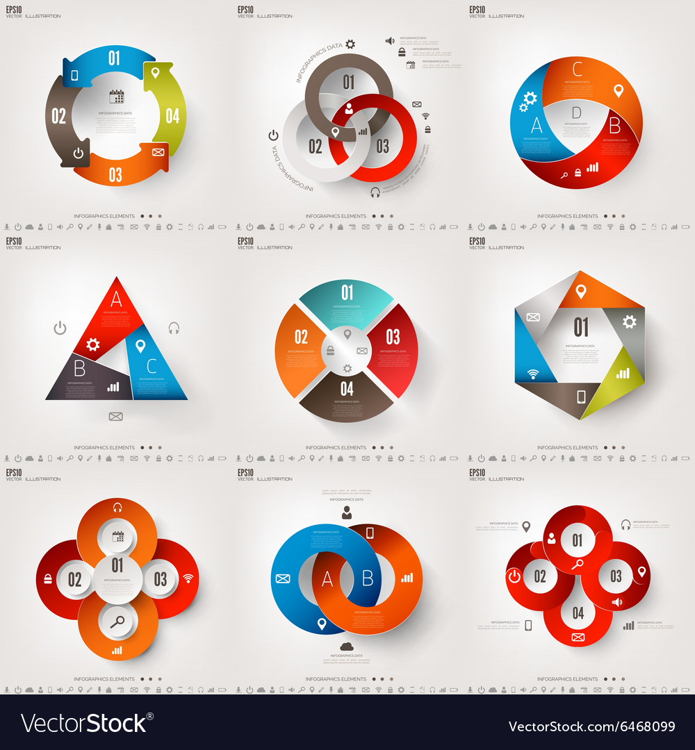 Infograaphics set Diagram or