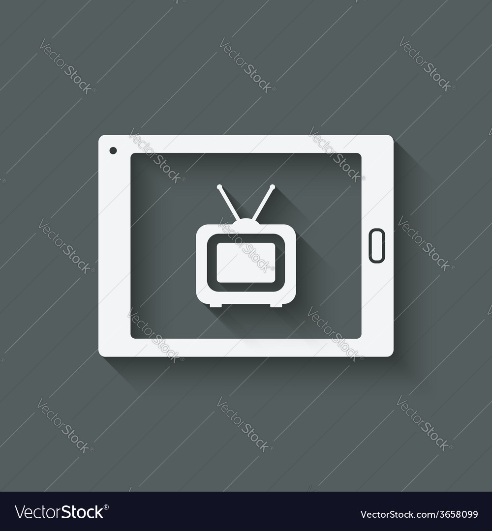 Online tv symbol