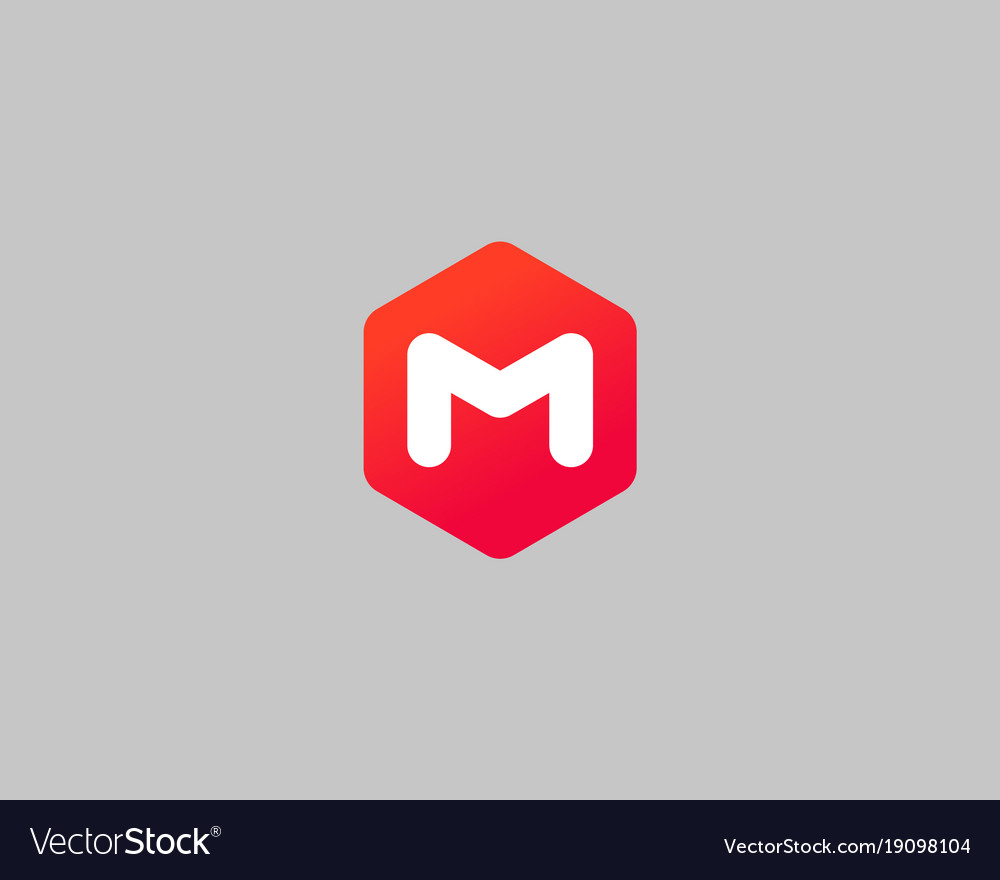 Abstract letter m logo design template creative