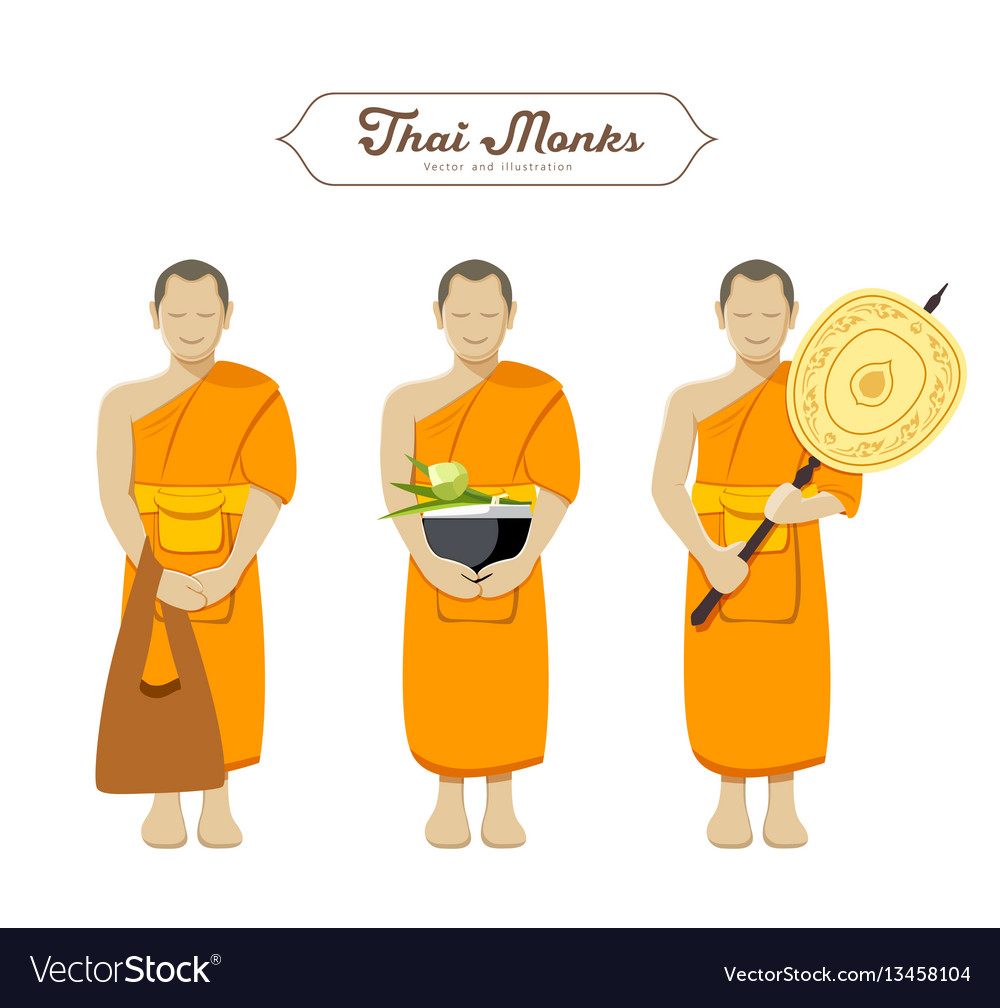 Thai monks collections