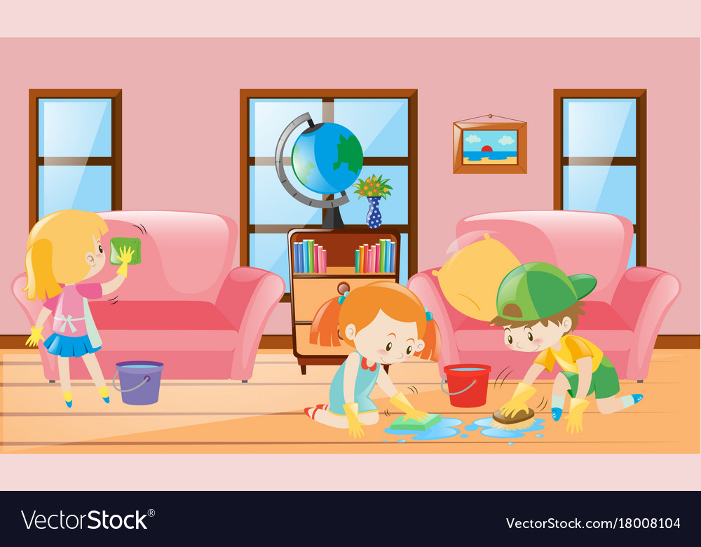 Colorful Cleaning Living Room Motif - Living Room Designs ...