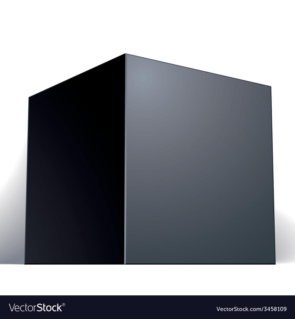 Blank black box isolated on white background