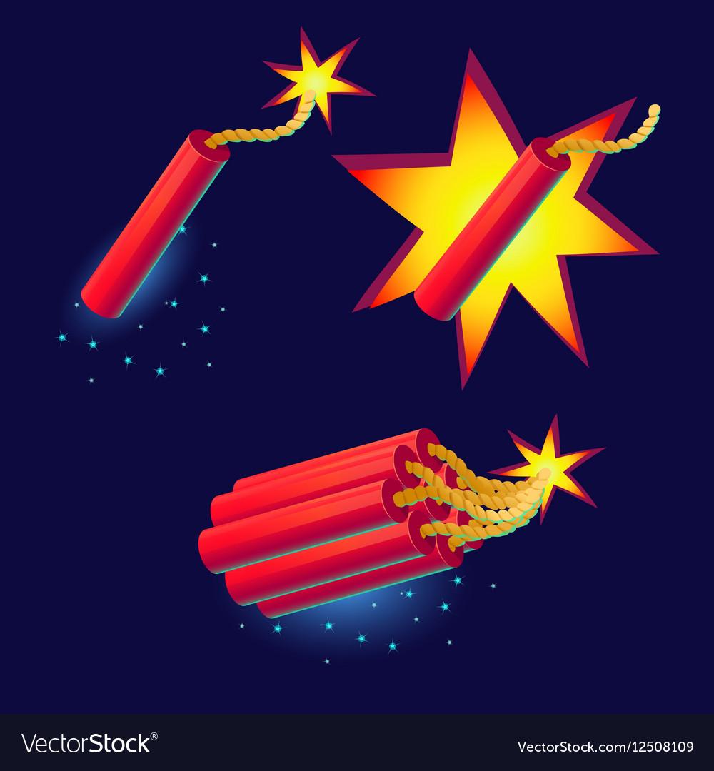 Bomb with sparkles icon
