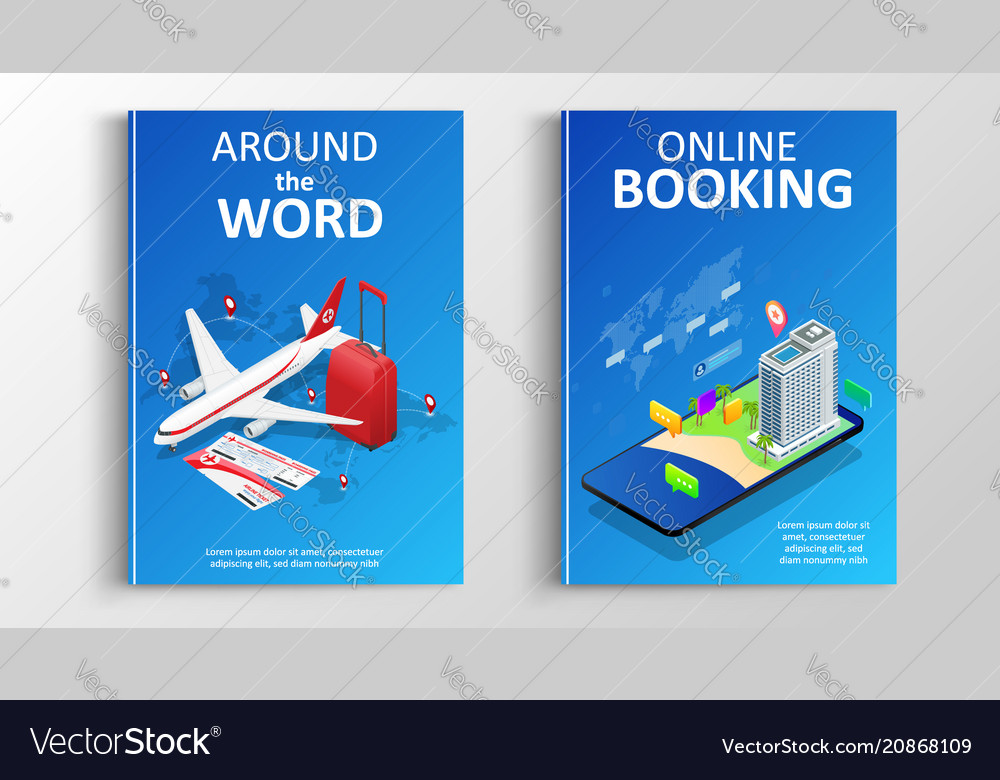 Brochure or flaer travel and online bookung