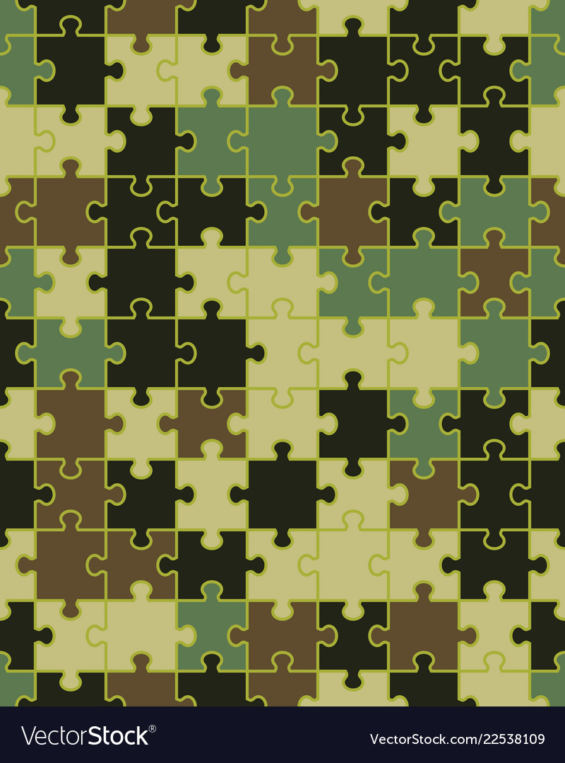 Camouflage puzzle seamless