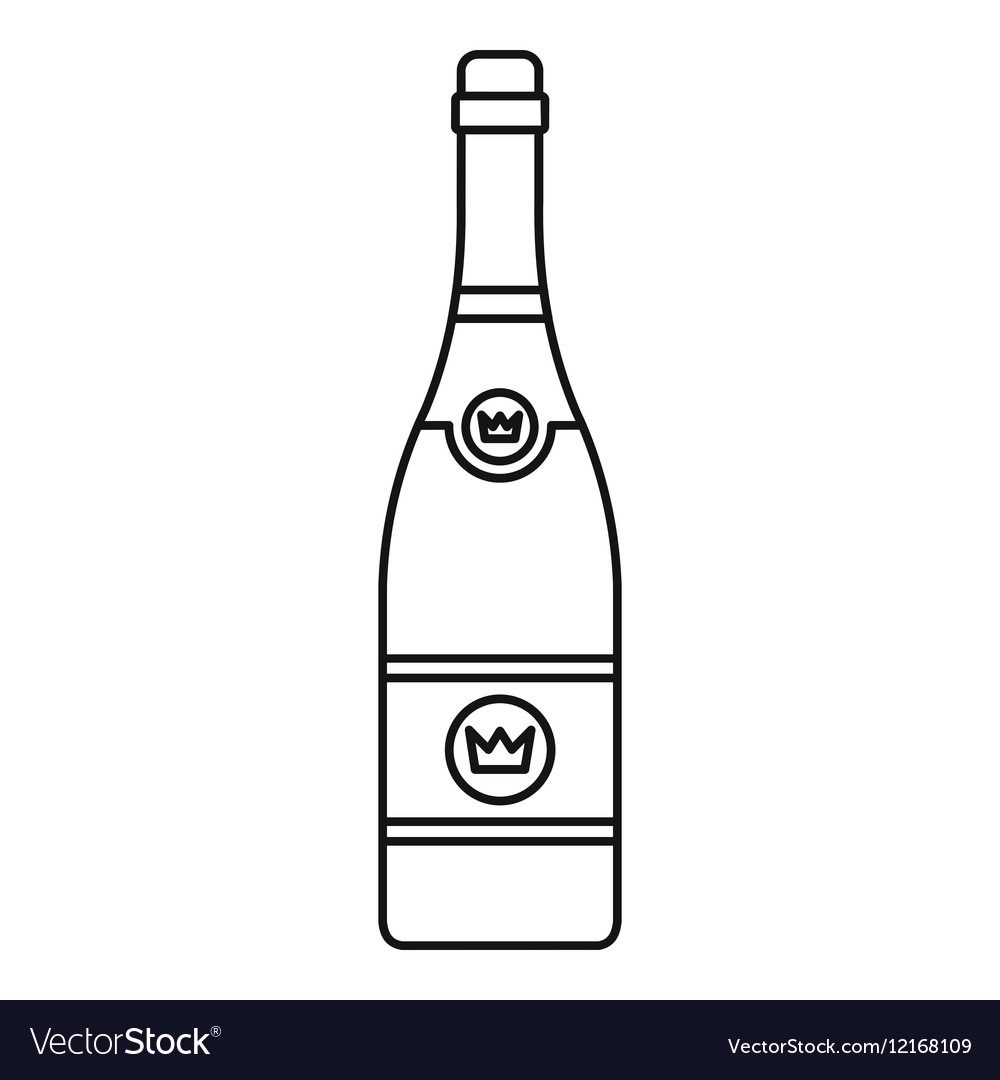 Champagne icon outline style vector image