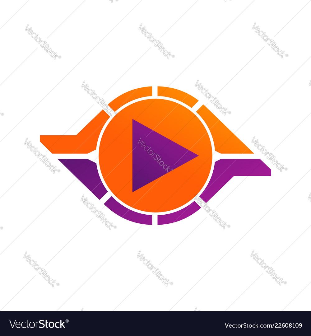 Circle abstract infinity loop logo design