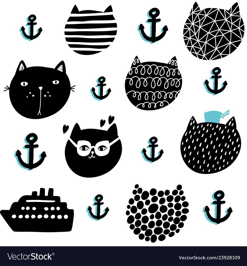 Creative seamless pattern in scandinavian style