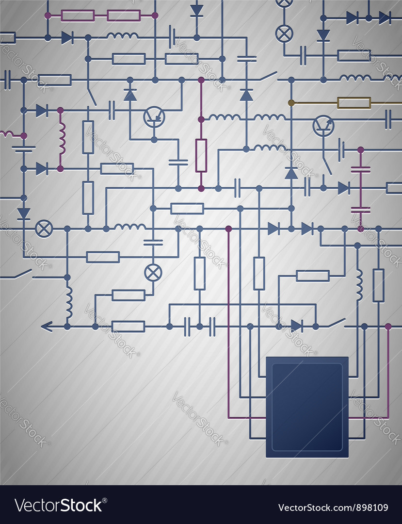 Electrical Circuit Diagram Royalty Free Vector Image Schematic