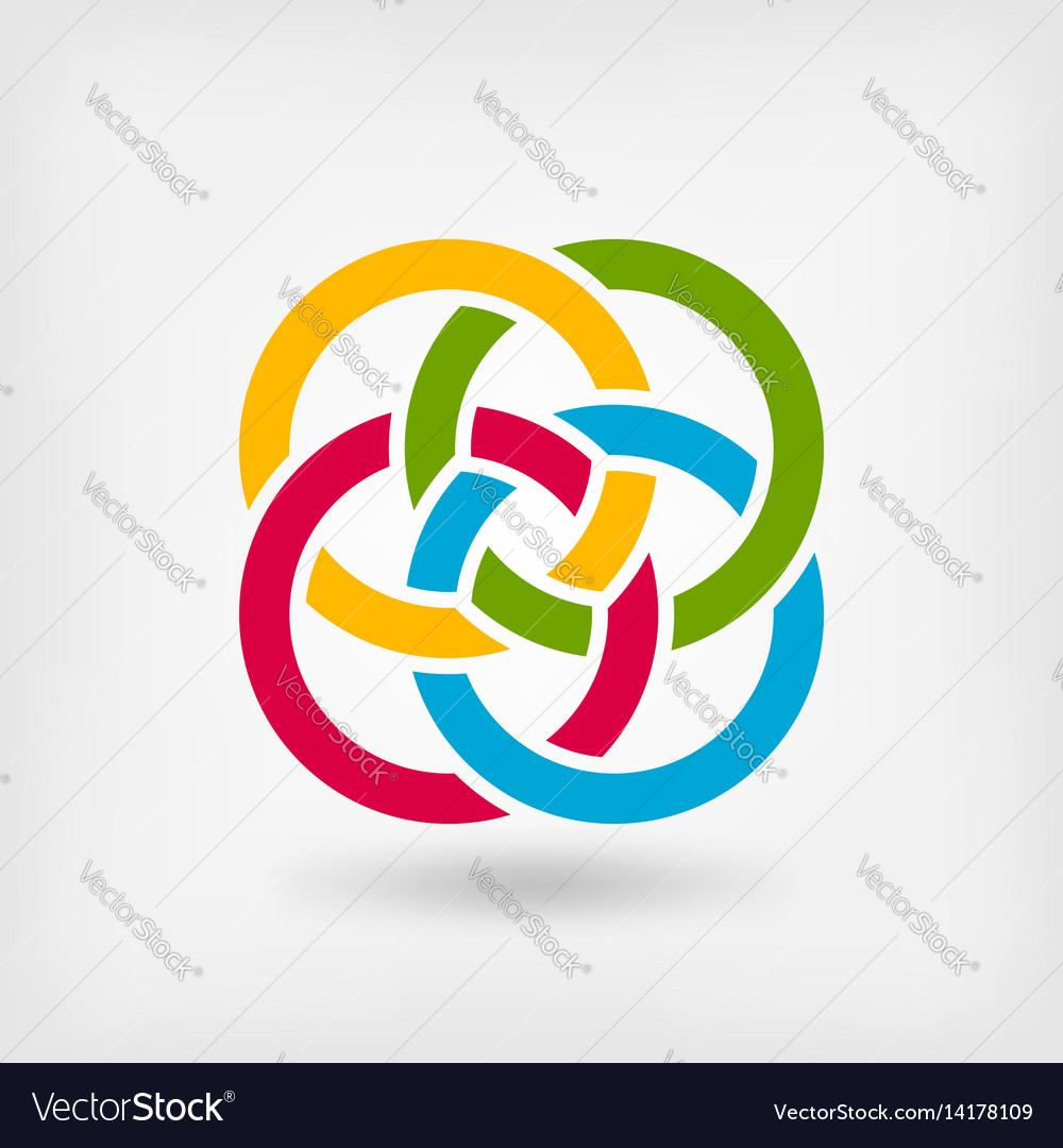 Four interlocked rings