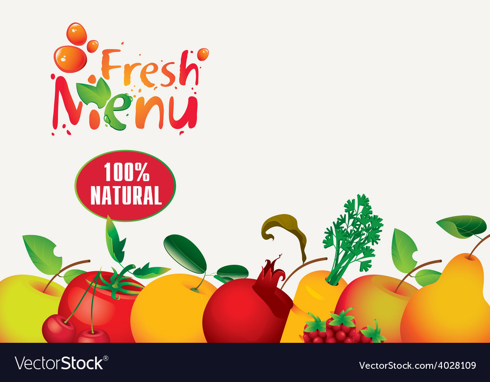 Juices fresh vector image
