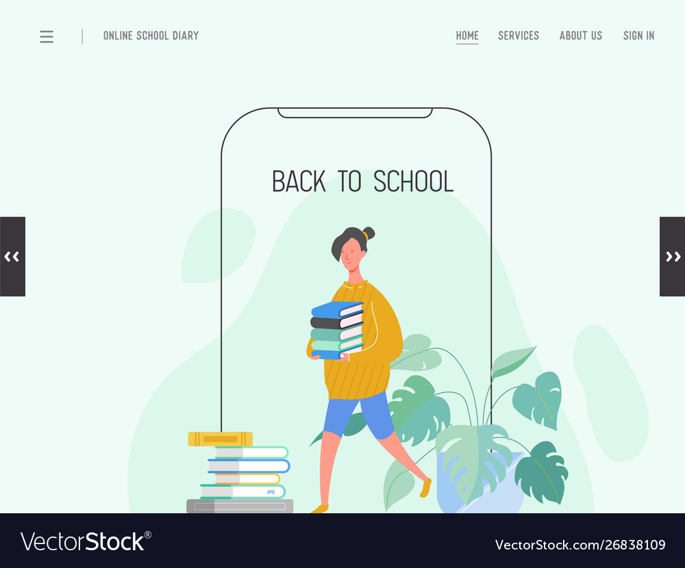 Landing page template back to school