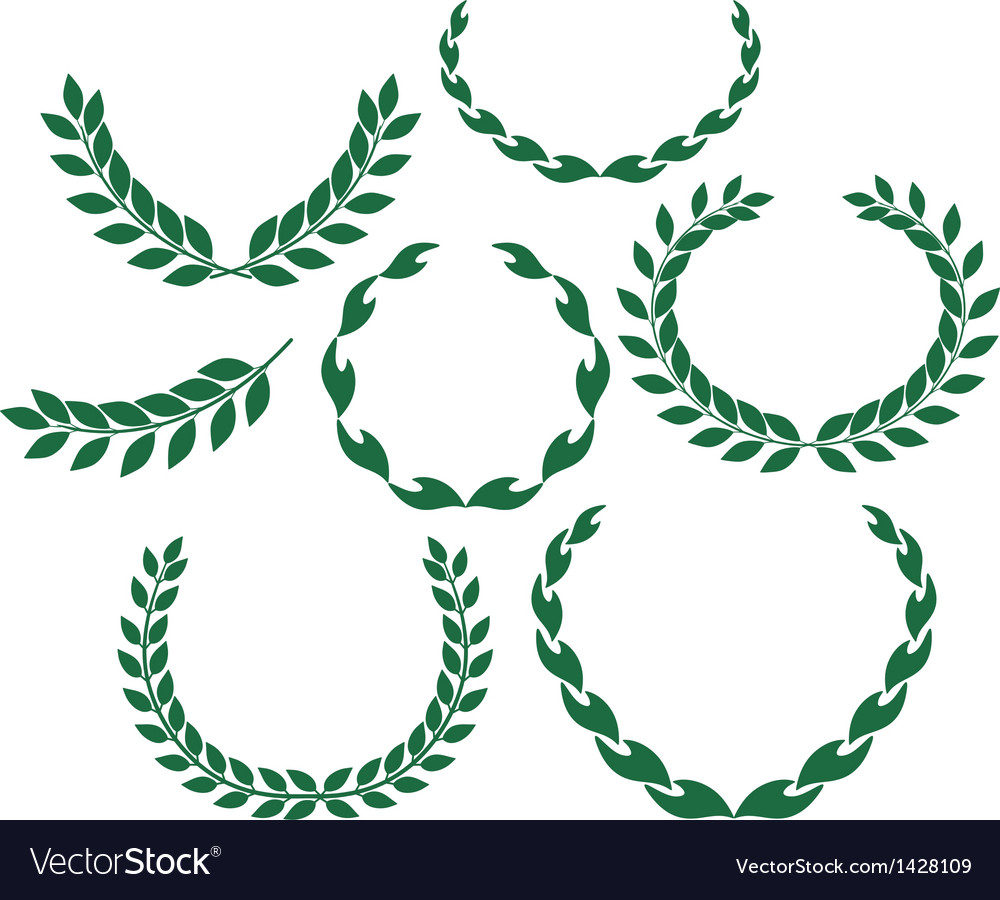 laurel wreath royalty free vector image vectorstock rh vectorstock com laurel wreath vector download laurel wreath vector download
