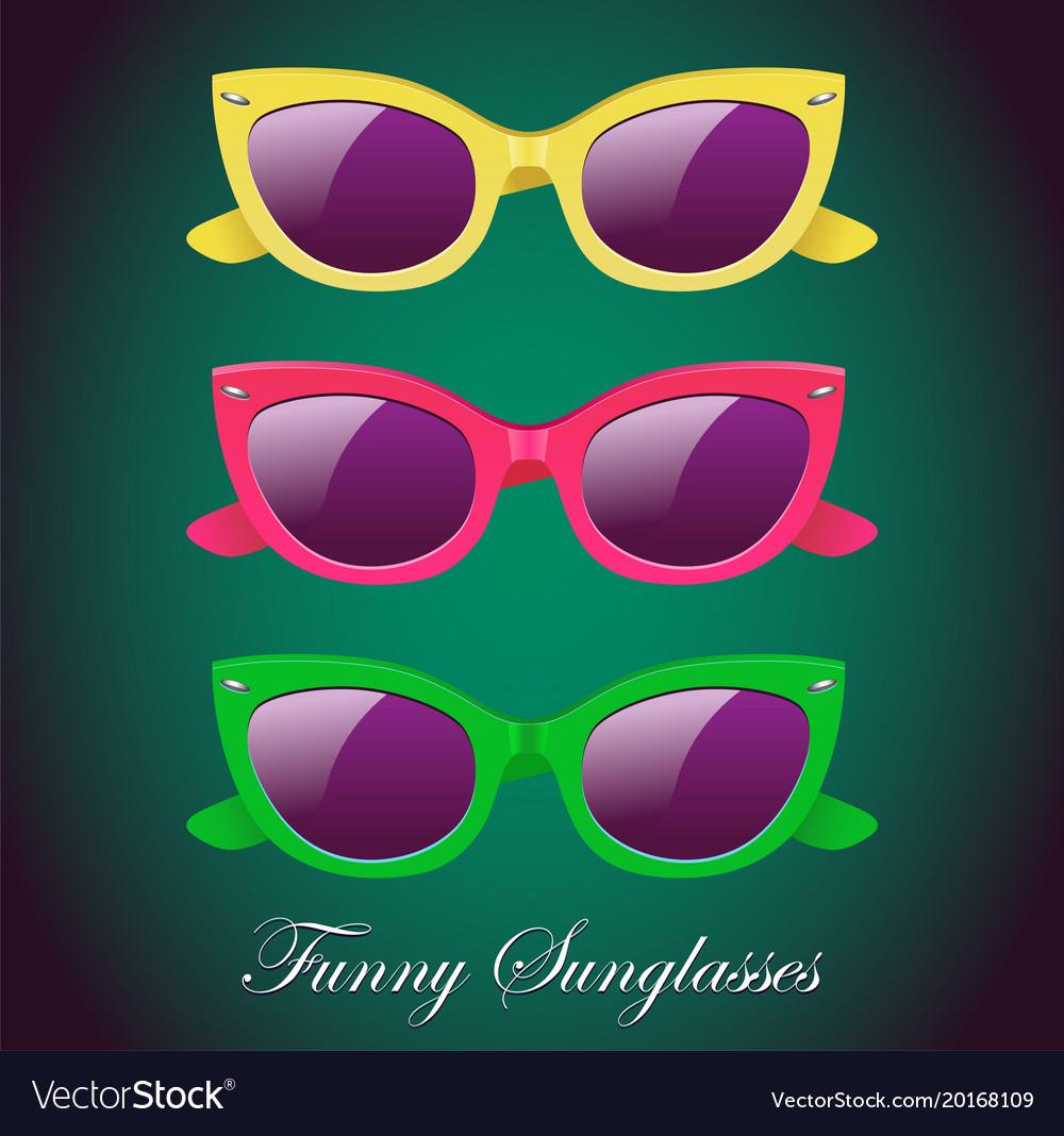 Retro set of sunglasses icon