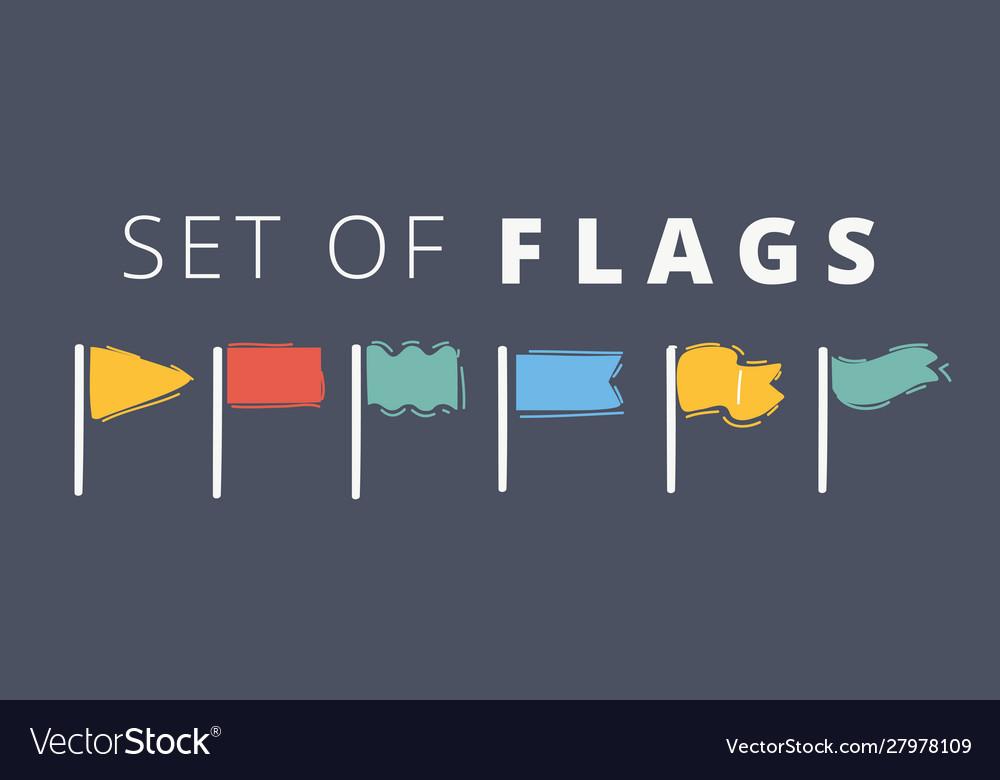 Waving flags waves