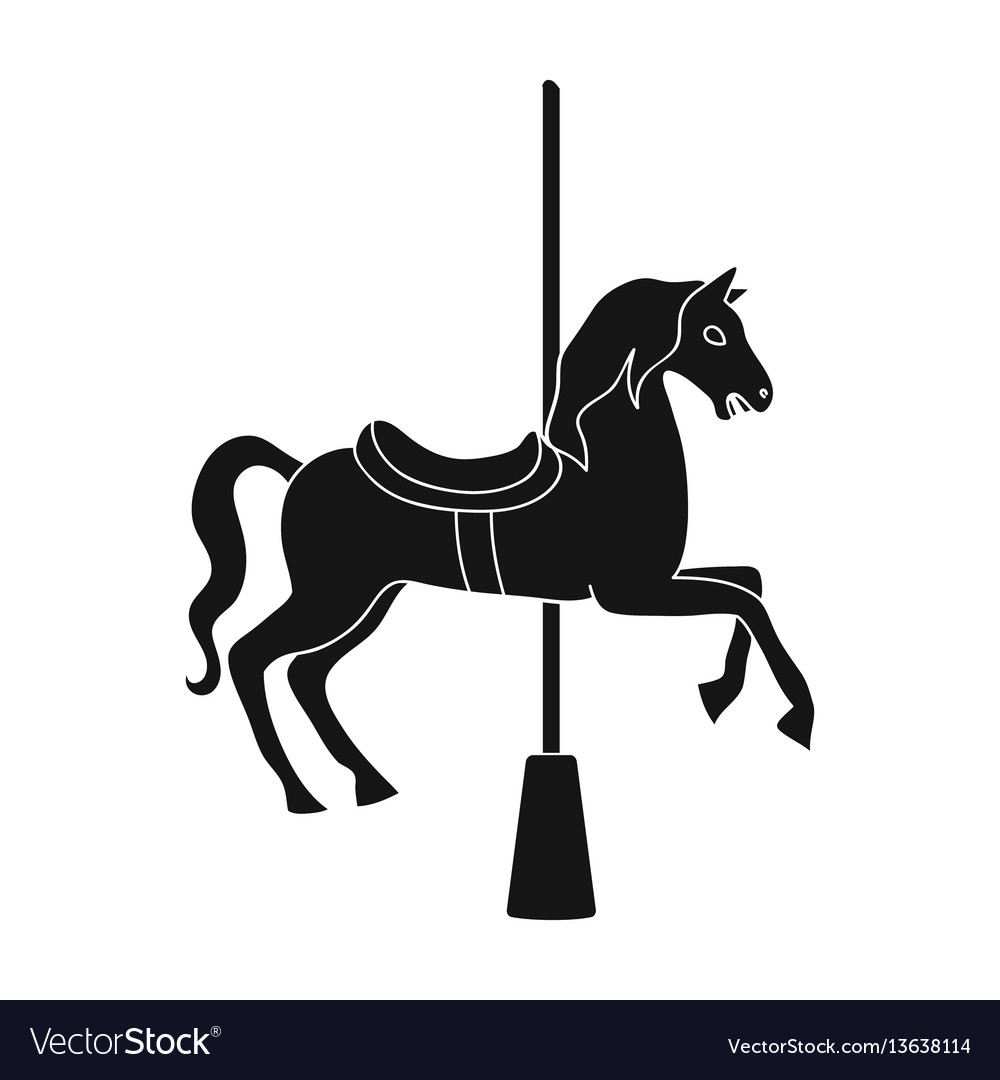 Carousel For Children Horse On Pole Royalty Free Vector