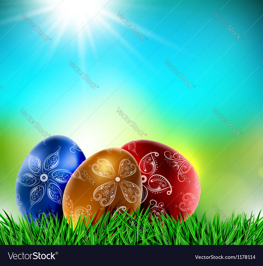 Eggs on natural background