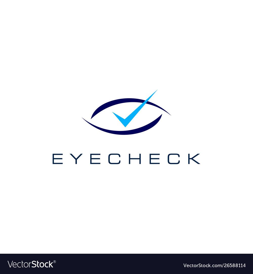 Eye check logo icon