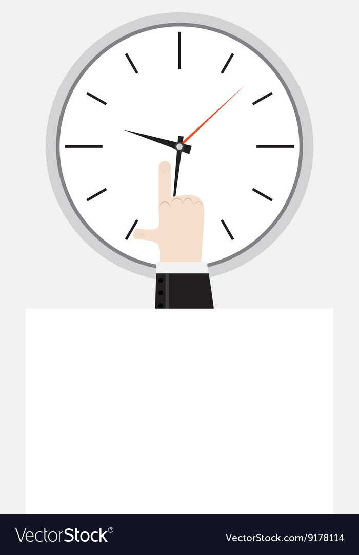 Finger showing on the clock