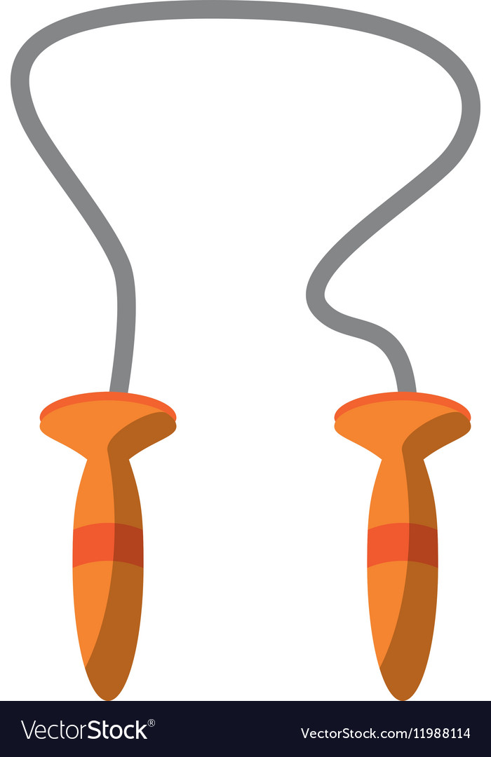 Jumping rope cardio fitness gym vector image