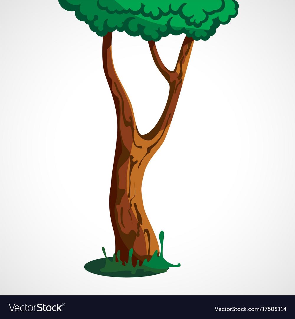 The cartoon tree