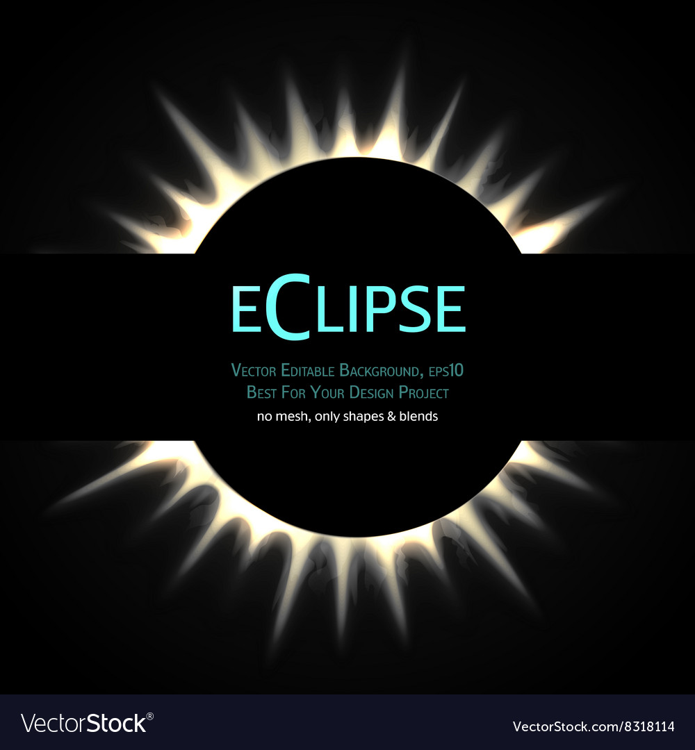 Total eclipse of the sun vector image
