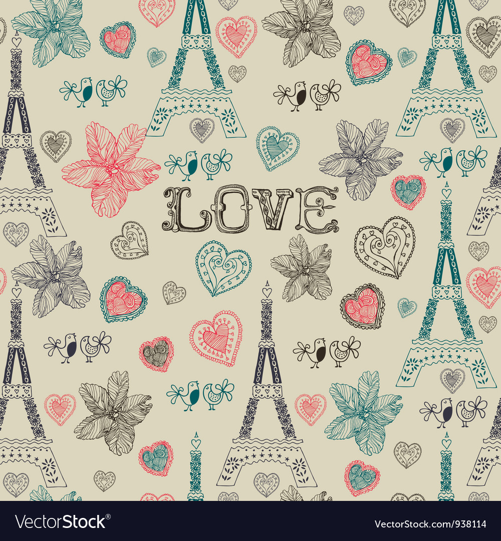 Vintage Love Paris Pattern