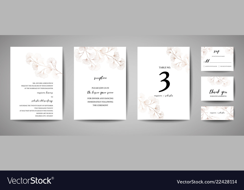 Wedding invitation floral invite thank you rsvp