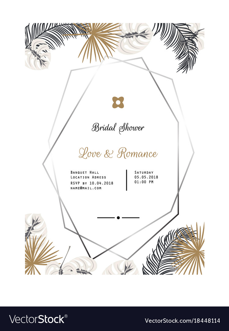 Wedding Invitation Template Design Royalty Free Vector Image