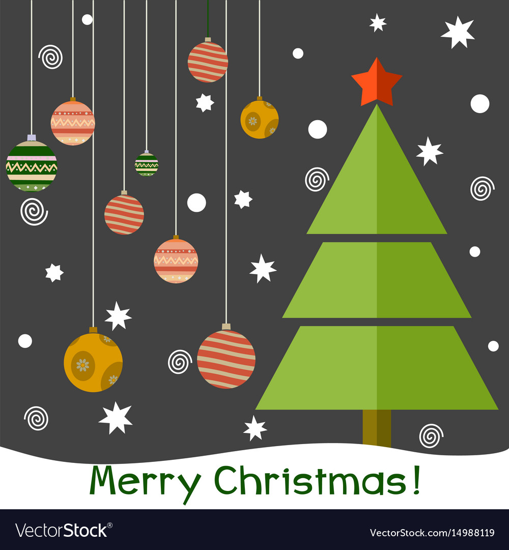 A christmas fir tree