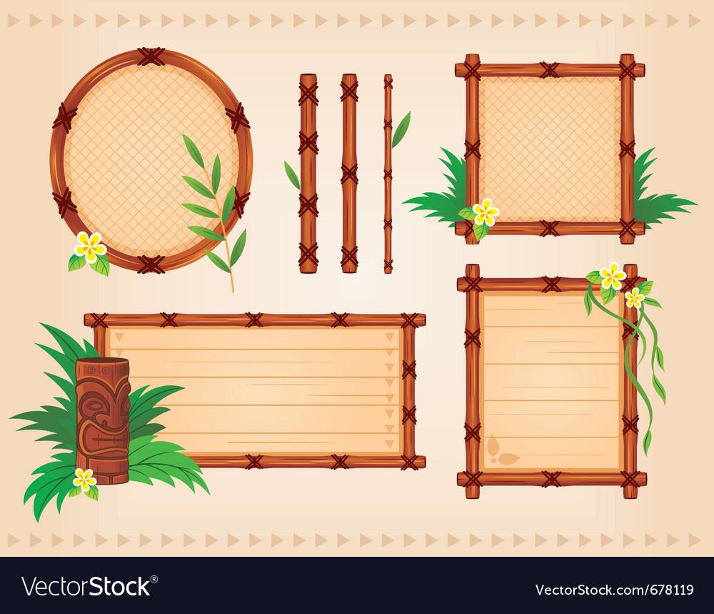 Bamboo frames set Royalty Free Vector Image - VectorStock