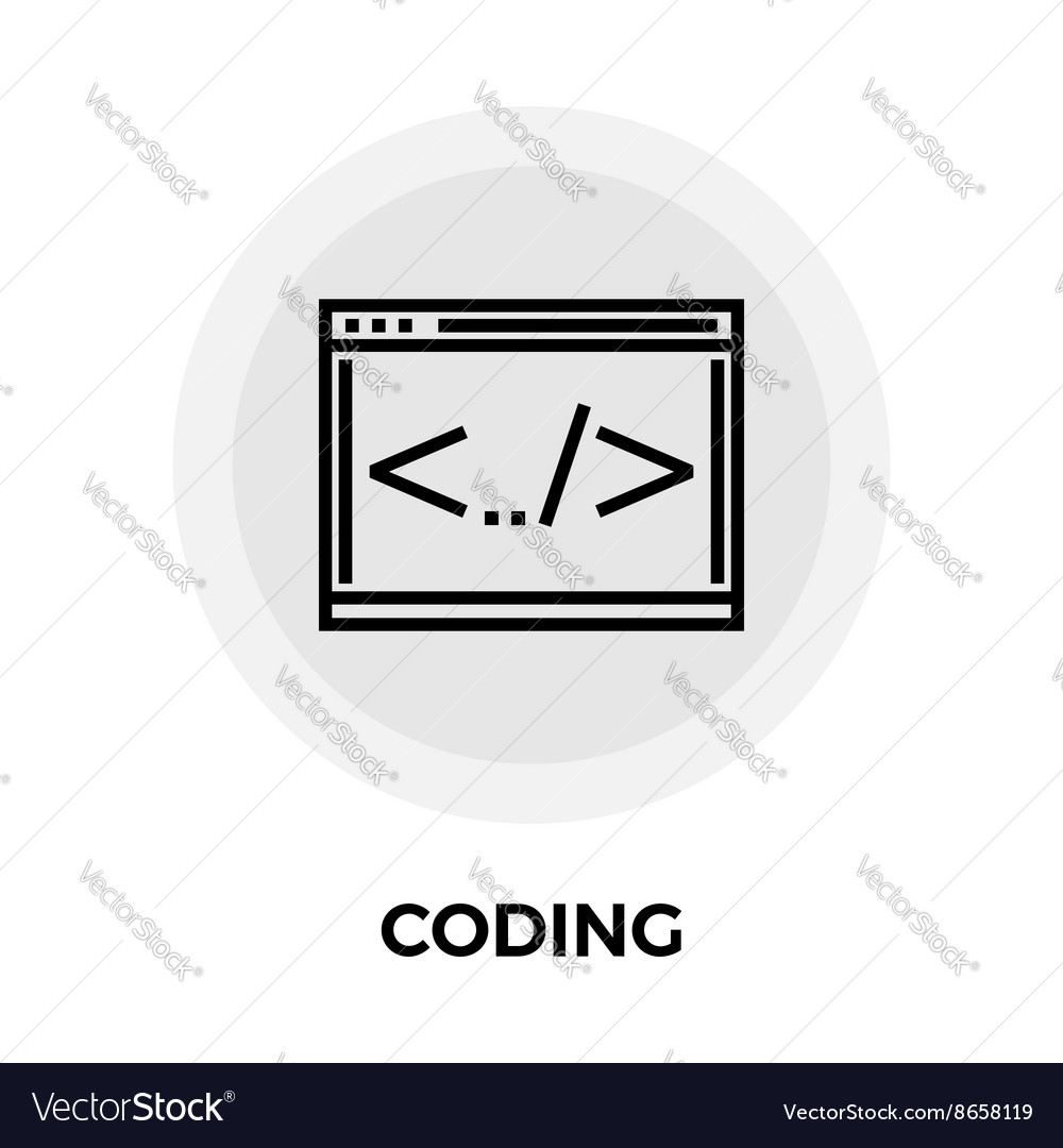 Coding Line Icon