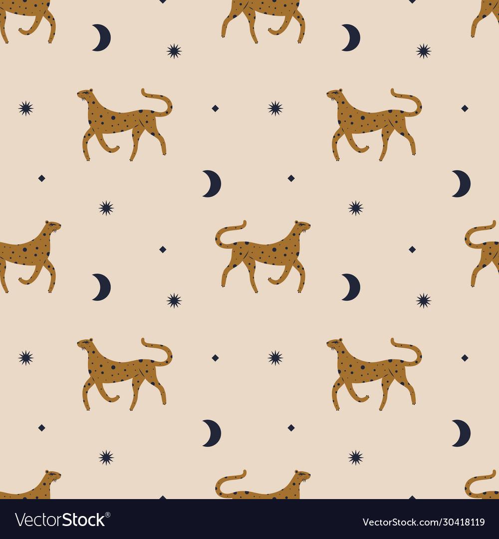Cute leopard seamless pattern or digital paper