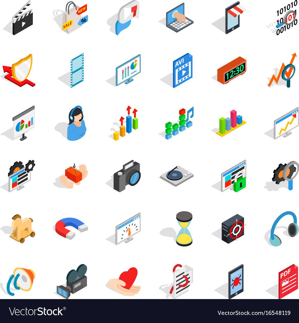 Good design icons set isometric style