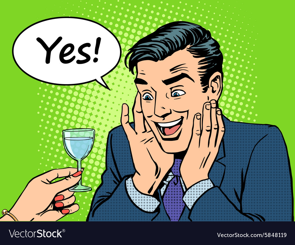 Joy alcoholic men vector image