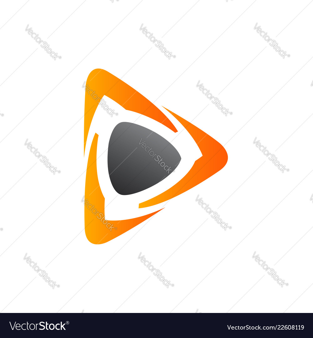 Play icon video application icon design template
