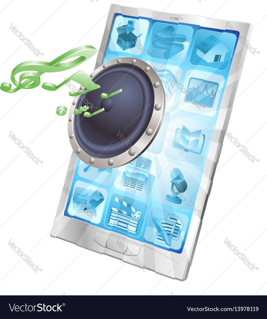 Speaker icon phone concept vector image