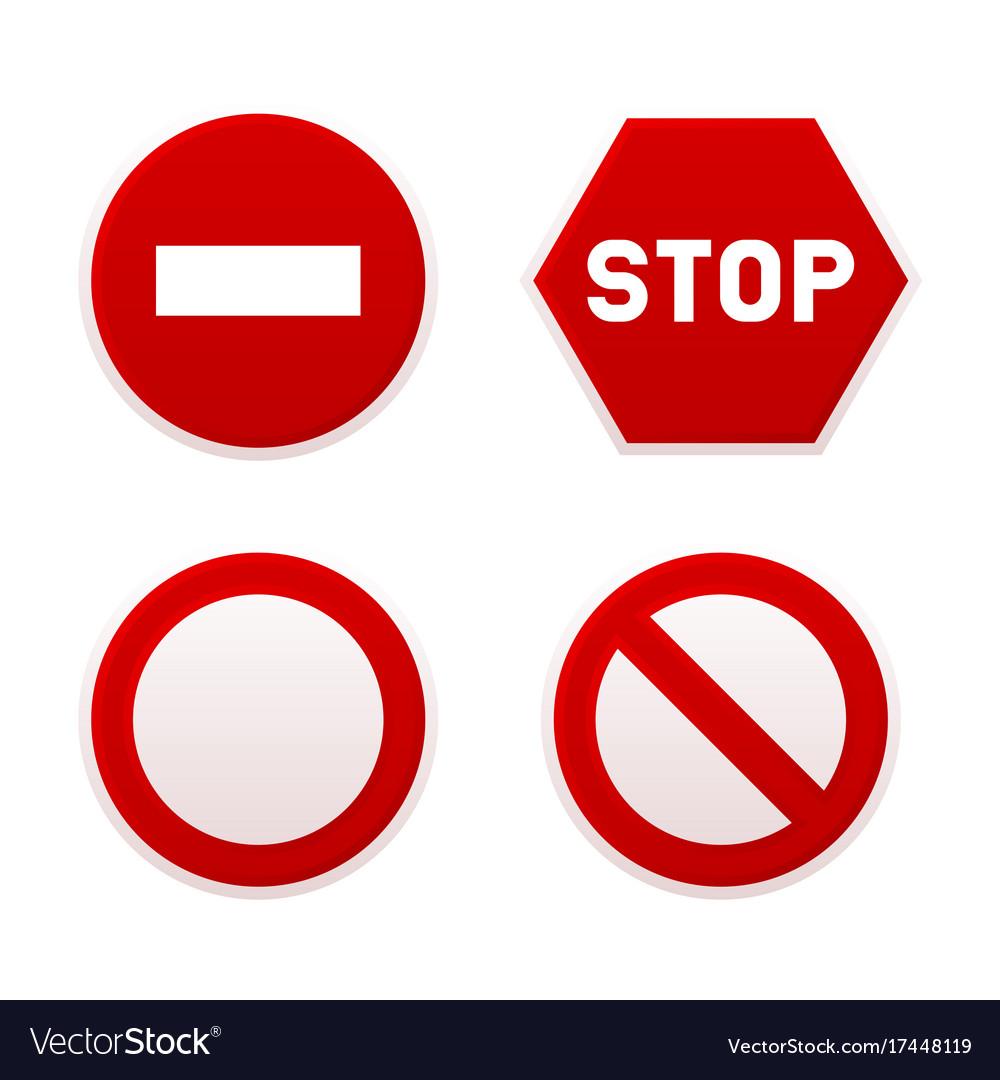 Stop sign set